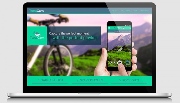 Website homepage for the TunaCam app.