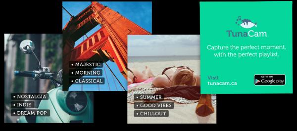 TunaCam promo cards.