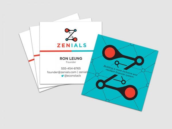 Zenials business cards.