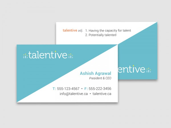 Talentive business cards.